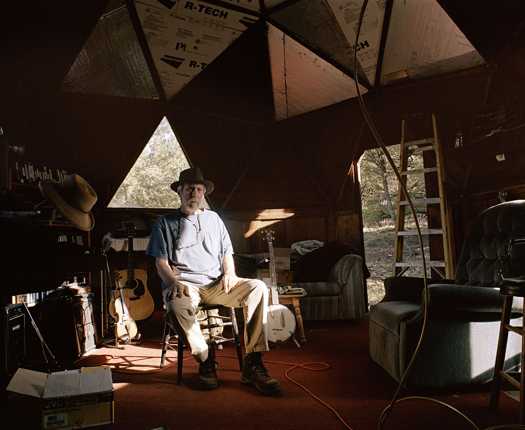 George Parrish in his house, Tiple A, Colorado 2010